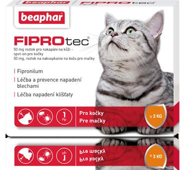Antiparzitní kapky Beaphar Fiprotec